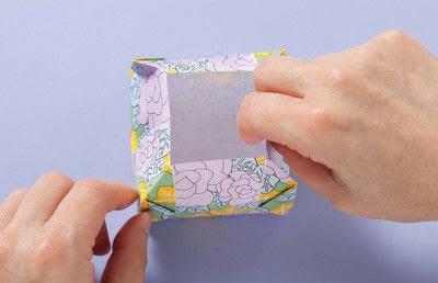 How to fold an origami box. Fusenbako Balloon Box - Step 13