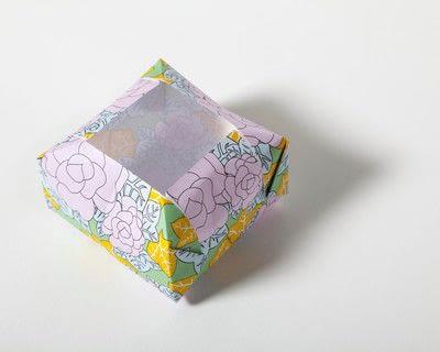 How to fold an origami box. Fusenbako Balloon Box - Step 14