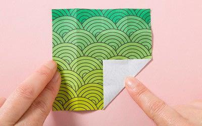 How to fold an origami shape. Kemari Origami Ball - Step 3