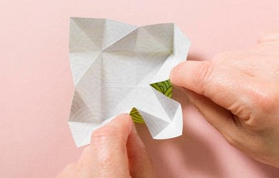 How to fold an origami shape. Kemari Origami Ball - Step 4
