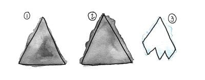 How to make a garland. Felt Mountain Garland - Step 1