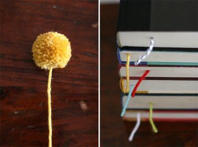 How to make a book end. Yarn Ball Bookmark - Step 5