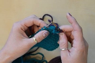 How to knit a brioche stitch. Brioche Stitch With Diagonal Yarn Over - Step 7