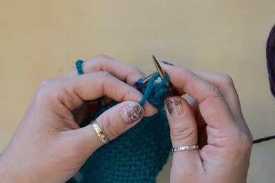 How to knit a brioche stitch. Brioche Stitch With Diagonal Yarn Over - Step 9
