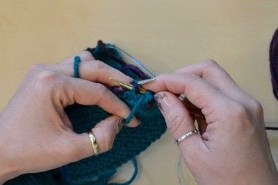 How to knit a brioche stitch. Brioche Stitch With Diagonal Yarn Over - Step 12