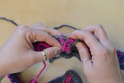 How to knit a brioche stitch. Brioche Stitch With Diagonal Yarn Over - Step 32