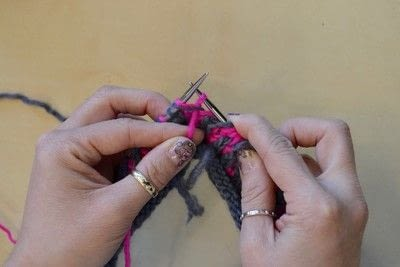 How to knit a brioche stitch. Brioche Stitch With Diagonal Yarn Over - Step 34