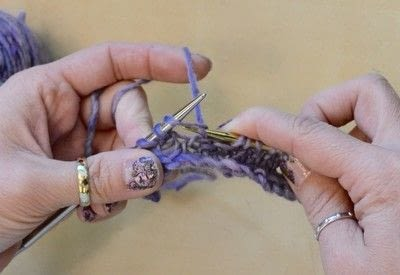How to knit . The Yarn Over (Yo) - Step 14