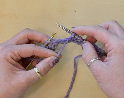 How to knit . The Yarn Over (Yo) - Step 31