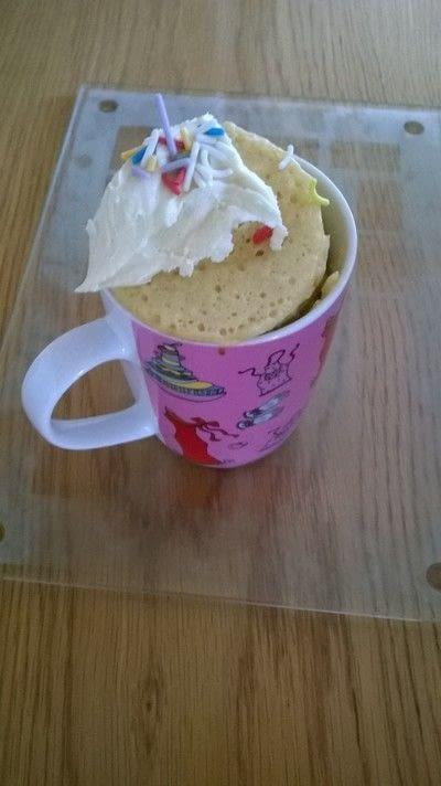 How to bake a sponge cake. Sprinkles Mug Cake - Step 8