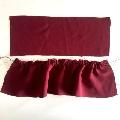 How to make a piece of clothing. Cold Shoulder Inserts - Step 3