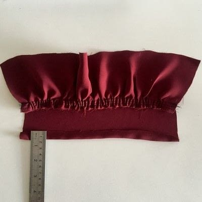 How to make a piece of clothing. Cold Shoulder Inserts - Step 6