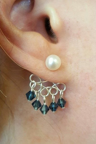 How to make a dangle earring. Earring Jackets - Step 6