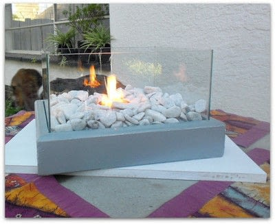 How to make furniture. Diy Portable Fire Feature - Step 8