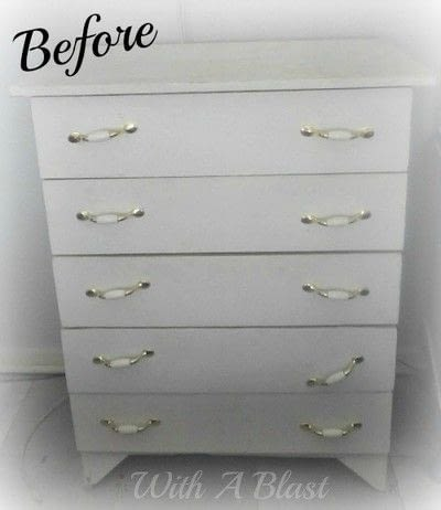 How to make a dressing table. Drab To Fab Dresser - Step 1
