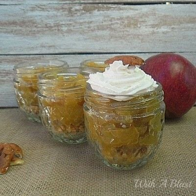 How to make a pudding. Apple Pie Jars - Step 2