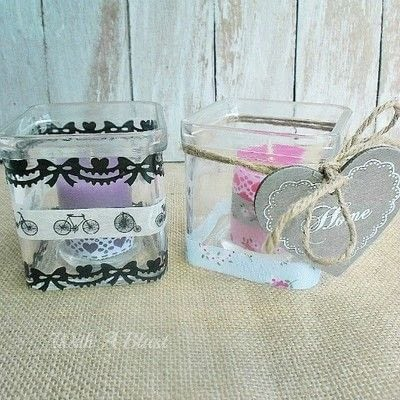 How to make a candle. Washi Tape Candle Holders - Step 3