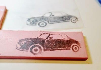 How to make a silk scarf. Vintage Car Print Scarf - Step 2