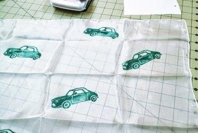 How to make a silk scarf. Vintage Car Print Scarf - Step 6