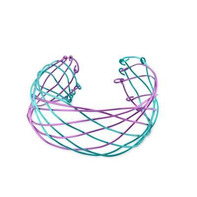 How to make a cuff. Artistic Wire Braided Cuff Bracelet - Step 41