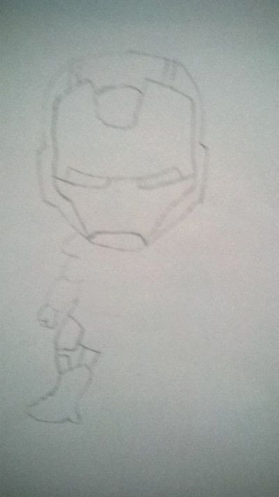How to make a misc. Iron Man Drawing  - Step 1