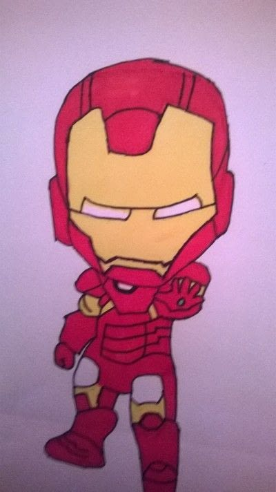 How to make a misc. Iron Man Drawing  - Step 3