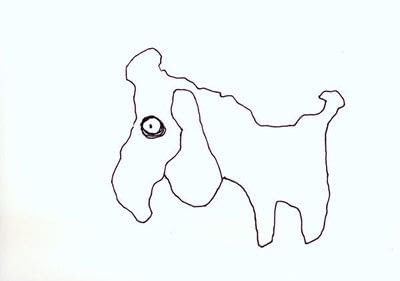 How to draw an animal drawing. Layered Poodle - Step 1