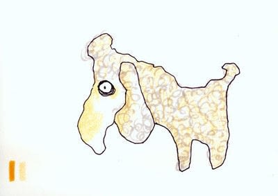 How to draw an animal drawing. Layered Poodle - Step 3