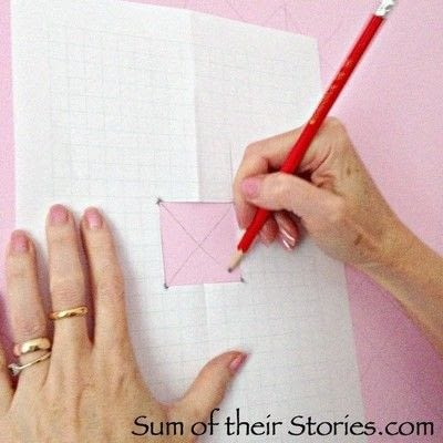 How to make wallpaper / a wall painting. Simple Cross Stitch Mural - Step 2