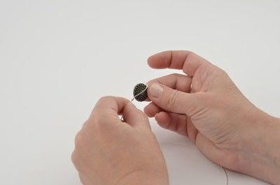 How to make a beaded bracelet. Shamballa Style Bracelet With The Beadalon Tying Station - Step 2