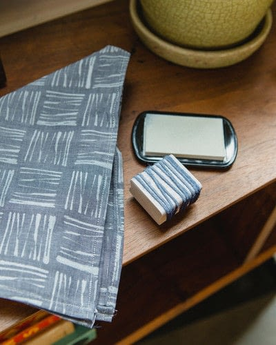 How to wrap a furoshiki wrap bag. Block Printed Furoshiki Wrap - Step 3