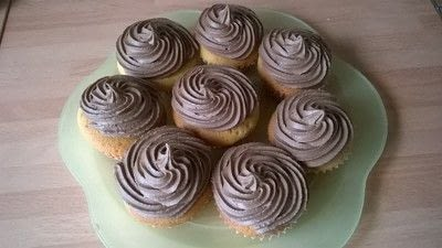 How to bake a sponge cake. Boston Cream Cupcakes  - Step 12