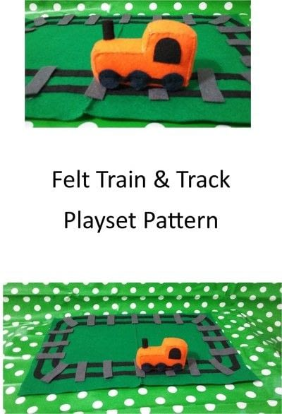 How to make an object plushie. Felt Train & Track Playset - Step 2