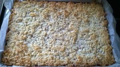 How to bake a bar / slice. Coconut & Strawberry Slice - Step 7