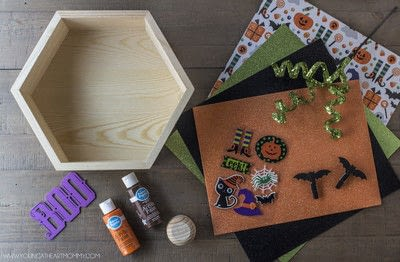 How to make a shadow box. Pumpkin Shadowbox Frame - Step 1