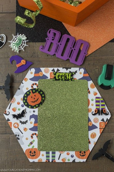 How to make a shadow box. Pumpkin Shadowbox Frame - Step 5