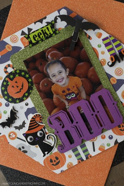 How to make a shadow box. Pumpkin Shadowbox Frame - Step 7