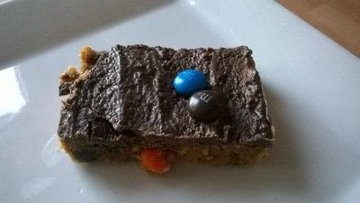 How to bake a cookie. M&M Cookie Bars - Step 10