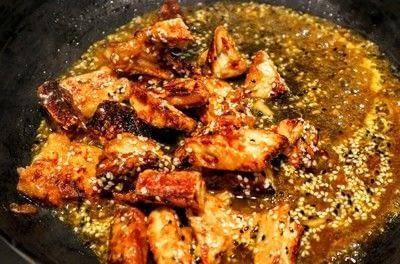 How to cook a chicken dish. Orange & Sesame Quorn Chicken - Step 6