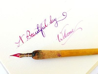 How to draw a piece of calligraphy. How To Do Calligraphy Using Watercolor ? - Step 4