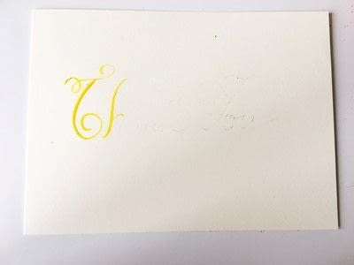 How to make a greetings card. Thank You Card Using Watercolor Calligraphy - Step 3