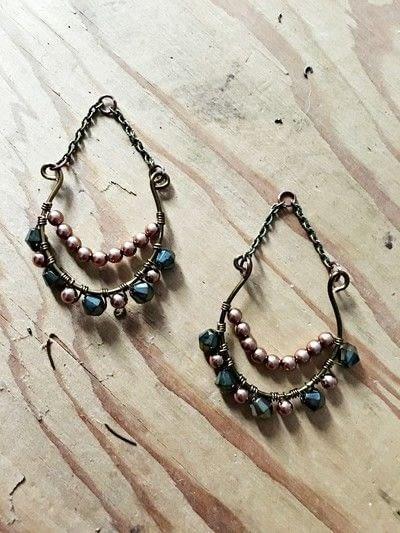 How to make a dangle earring. Boho Beaded Earrings - Step 5