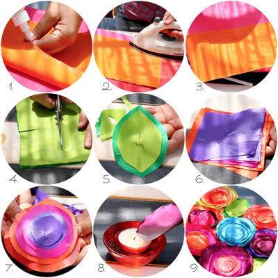 How to make a pillow. No Sew Boho Pillows - Step 3
