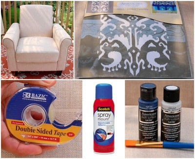 How to make a chair. Stenciled Chair Diy - Step 2