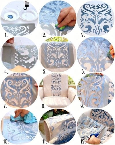 How to make a chair. Stenciled Chair Diy - Step 3