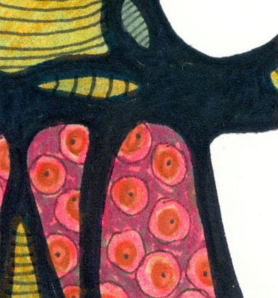 How to make a mixed media. Oaxacan Dotted Elephant - Step 5