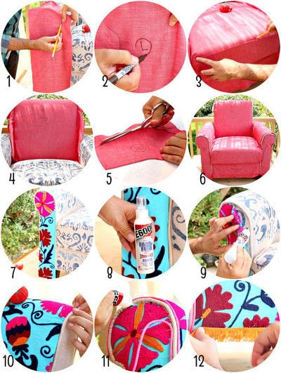 How to make a chair. No Sew Boho Upholstered Chair - Step 3