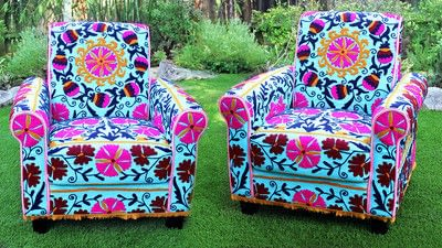 How to make a chair. No Sew Boho Upholstered Chair - Step 4