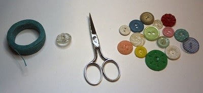 How to make a button bracelet. Button Bracelet - Step 1