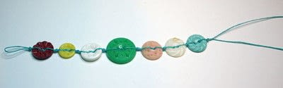How to make a button bracelet. Button Bracelet - Step 9